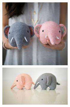 MAKE IT W/A BELL! Easy Crochet Amigurumi Elephant Free Pattern