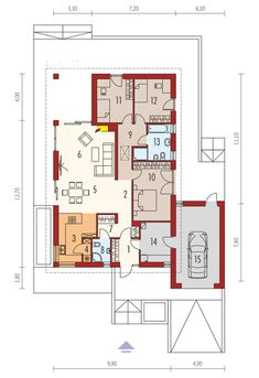 Case in Legno House Layout Plans, House Layouts, House Plans, Diy Table, Wood Table, Cabinet D Architecture, Prefabricated Houses, Autocad, Future House