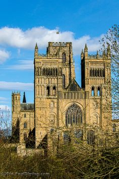 Durham Cathedral from South Street - Durham, England, UK Cathedral Architecture, Sacred Architecture, Religious Architecture, Durham Cathedral, Cathedral Church, Durham England, England Uk, Architectural Painting, Places Around The World