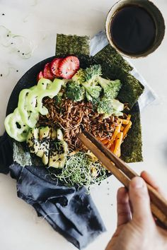 Deconstructed vegan sushi bowl, filled with antioxidants.
