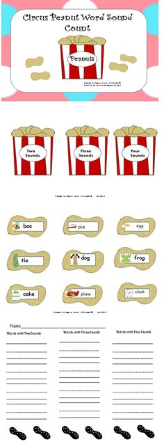 Your students will develop phonemic awareness as they sort 24 picture word cards by counting the sounds they hear in words. This is a great activity to get your students ready for DIBELS testing. Phonemic segmentation is an important skill for students to learn how to write words using inventive spelling.