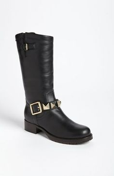 Valentino 'Lock Stud' Biker Boot available at #Nordstrom