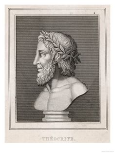 Teocrito di Siracusa. Theocritus (Ancient Greek: Θεόκρῐτος, Theokritos; Syracuse, 315-260 BC), the creator of ancient Greek bucolic poetry, flourished in the 3rd century BC. His poetry, some of which is known as the Idylls, features versified dialogues between herdsmen in a rural setting, speaking of ordinary life and love, gods and goddesses, playing the pan flute, singing country songs, among other things.