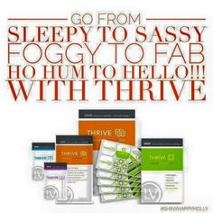 A little about what the thrive experience is all about. What is Thrive?? It is a new all-natural wellness supplement I am taking that is really making me feel amazing. I have so much energy (no crash...EVER)!! My joints feel great, I'm sleeping better, no caffeine needed anymore, major appetite control and so much more!! Besides all the fabulous benefits I feel from it, the main thing I love about it, is that it is so simple. www.thrivelife4you.com