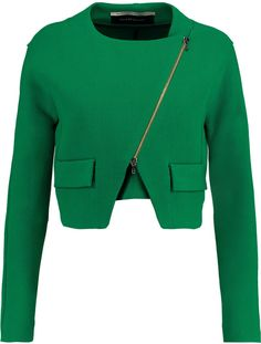 Roland Mouret Luciola cropped wool-crepe jacket on shopstyle.com