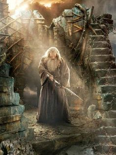 Sir Ian McKellan as Gandalf the Grey in The Hobbit: The Battle of the Five Armies.