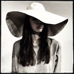 Cool giant hat in case of bad face days - @Steven Alan