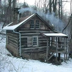 :D❤️Photo: Home is where the Heart is in this Log cabin.