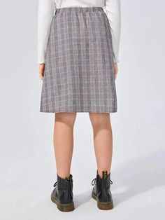Girls Buttoned Front Lace Detail Plaid Panel Skirt – Kidenhouse Leopard Print Skirt, Floral Print Skirt, Girl Skirts, Front Lace, Autumn Summer, Printed Skirts, Lace Detail, Pleated Skirt, Plaid