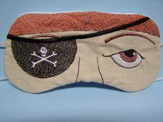 Eye Mask Embroidered Sleep Mask. $8.00, via Etsy.