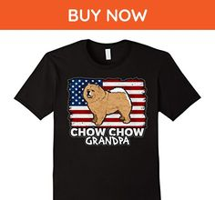 Mens Patriotic Chow Chow Grandpa Dog American Flag T-shirt Large Black - Animal shirts (*Amazon Partner-Link)