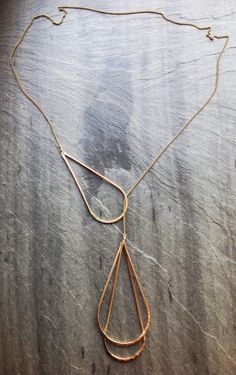 ~Pendulum Lariat~ - By Loop Jewelry Formed, forged and soldered 14K gold fill…