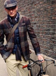 Hackett London: wool plaid jacket and cap