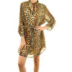 Shirtwaist Animal Print Dress - http://www.salediem.com/shop-by-collection/fall-dress-sale/shirtwaist-animal-print-dress.html #salediem #fashion #dress  #fallfashion