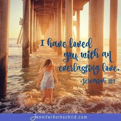 The love of God reaches far and deep and wide- for you! Remember that the Lord's love is everlasting.  He's got you. www.jenniferrothschild.com