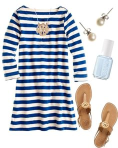 Simple blue and white   Southern Charm