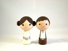 Star Wars Wood Doll Cake Topper. $45.00, via Etsy.