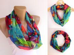 neon infinity scarf women scarves summer  scarf  by senoAccessory, $19.00
