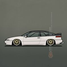 Slammed Pearl White Subaru SVX on BagsAvailable at Redbubble and Artsmoto David Caron's world's first Subaru SVX on air suspension. ©2016 Tom Mayer, Monkey Crisis On Mars – All Rights Reserved