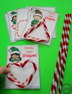Candy Cane Shapes - Christmas Theme for Preschool