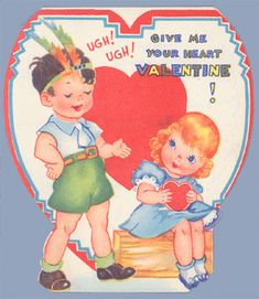 1960s Valentine Card