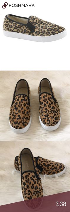 """658284cc9501 Quilted leopard slip on sneakers Brand new in box Size 6 Synthetic sole  Heel 1"""""""