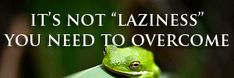 It's Not Laziness You Need To Overcome (6 Things You Are Instead of Lazy) | The Organic Sister
