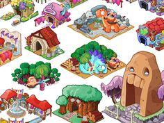 Dribbble - tiny village buildings by candice ciesla