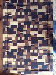 End grain cutting board made from scraps