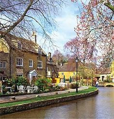 Bourton-on-the-Water is known as 'the Venice of the Cotswolds',UK