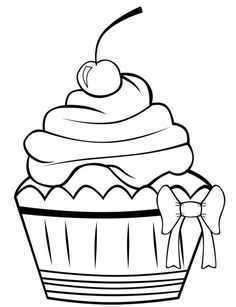 Free Printable Cupcake Coloring Pages For Kids Cupcake pictures