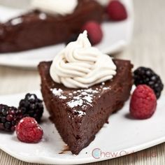 Flourless Chocolate Cake (Gluten Free) - Chew Out Loud