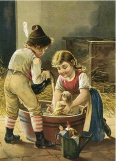 Jeux d'enfants ,with a doll
