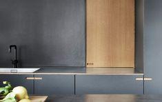 Søndermarksvej - Nicolaj Bo™ Integrated Fridge, Making Space, White Laminate, Drawer Unit, Built In Cabinets, Wooden Flooring, Building Design, Kitchen Design, Kitchen Appliances