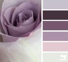Bedroom colors schemes purple design seeds 26 Ideas for 2019 Bedroom Color Schemes, Bedroom Paint Colors, Colour Schemes, Color Combos, Purple Paint Colors, Mauve Color, Purple Hues, Mauve Bedroom, Purple Color Palettes