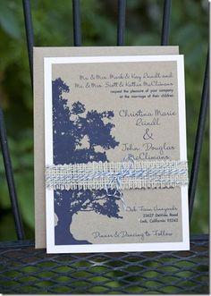 Oak Tree Wedding Invitation!