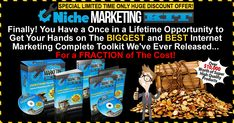 The Niche Marketing Kit 2020 is the huge and complete internet marketing toolkit package that has been devised by two experienced and successful internet marketers. Marketing Software, Marketing Tools, Affiliate Marketing, Internet Marketing, Online Marketing, Digital Marketing, Facebook Business, Online Business, Google Traffic
