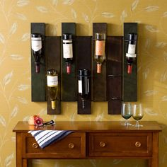 Wine rack made from pallets wood wine rack swish wooden pallet wine rack plans pallet wood Unique Wine Racks, Wood Wine Racks, Wooden Pallet Furniture, Wooden Pallets, Pallet Walls, Furniture Decor, Vin Palette, Wine Rack Plans, Pallet Wine