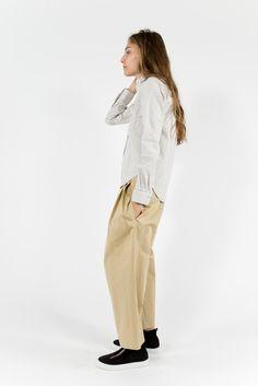 YOU MUST CREATE, Linen Stripe Shirt