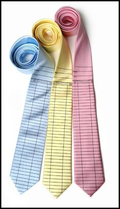 """""""Get Dapper, Book Style"""" -- Click through for a post about various """"fabulous bookish accessories,"""" surprisingly mostly for men in this case! -- Shown: Library check out card ties from cyberoptix (http://cyberoptix.com/products/printedneckties/duedatecard.php)"""
