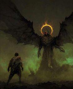 Fantasy Kunst, Dark Fantasy Art, Fantasy Artwork, Dark Art, Demon Artwork, Monster Art, Fantasy Monster, Fantasy Creatures, Mythical Creatures