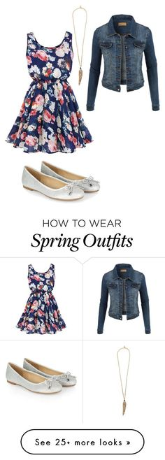 """Simple Spring Outfit"" by nix-outfits on Polyvore featuring LE3NO, Accessorize and Roberto Cavalli"