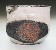 Raku Fired Dropped Pot $45.00 available for purchase on my Etsy page CeramicsGallery www.etsy.com/shop/CeramicsGallary?ref=shop_sugg