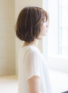 大人可愛いひし形ボブ(髪型ボブ) Short Hair Cuts, Short Hair Styles, Beautiful Women, Lady, Pretty, Beauty, Hairstyles, Japan, Color