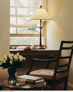 Really would love a window seat but this is a good idea too.  If you had two dormers you could have both.