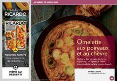 Omelette aux poireaux et au chèvre - La Presse+ Brunch, Menu, Omelettes, Dessert, Breakfast, Recipes, Goat Cheese, Healthy Meals, Eat