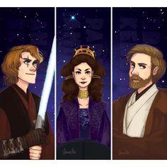 Anakin, Padme and Obi-Wan
