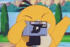 He might have tripped afterwards and gotten laughed at but how many pokemon know how to use a camera. Psyduck is an evil genius.