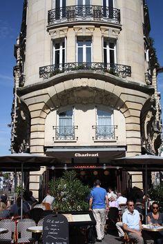 Paris 6e - 143 bd Raspail - Charivari, a Paris restaurant near the Luxembourg gardens.