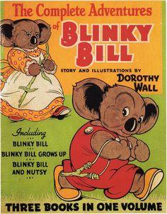 Adventures of Blinky Bill - Fantastic fun Tails for Primary School Age kids Vintage Children's Books, Vintage Posters, Vintage Labels, Australian Authors, Australian Artists, Australia Day, Australia Facts, Australian Vintage, My Books